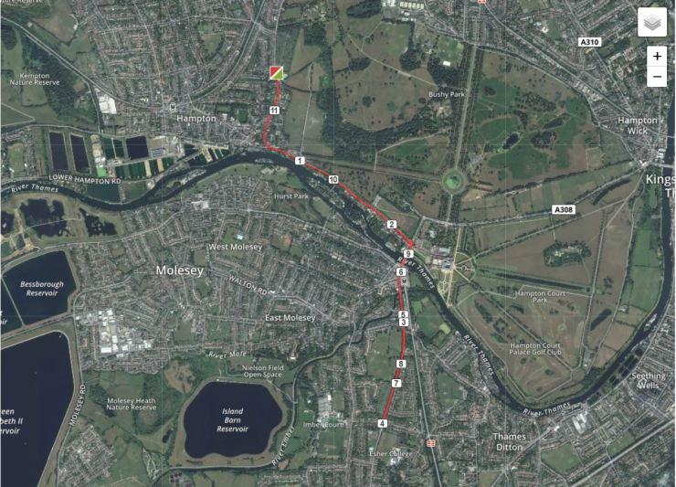 Hampton Go Tri Bike Route