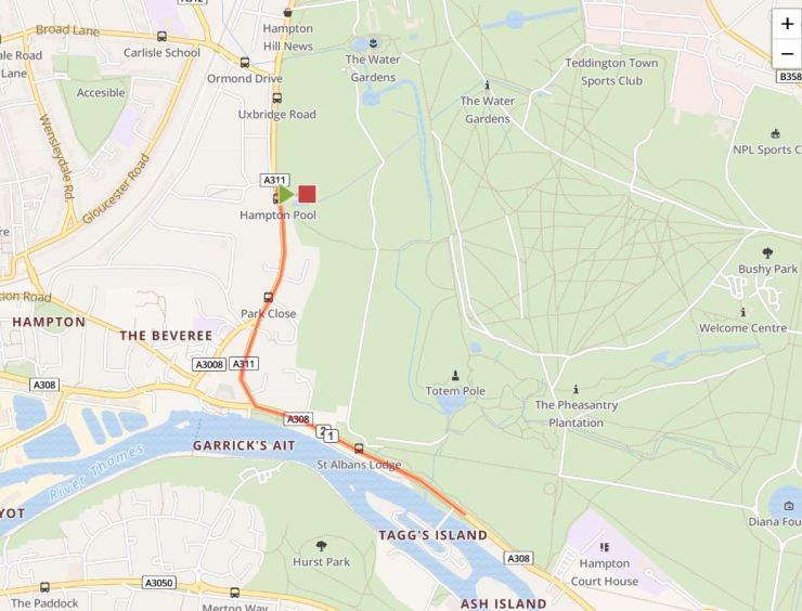 Hampton Go Tri Run Route